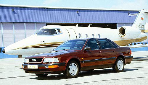 Audi V8 ma już 28 lat. Nie był to sukces komercyjny. Oferowano silniki 3.6 i 4.2. Napęd quattro. /Motor