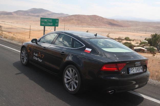 Audi z polską rejestracją  pojawiło  się w niewielkiej osadzie o nazwie Domeyko /INTERIA.PL