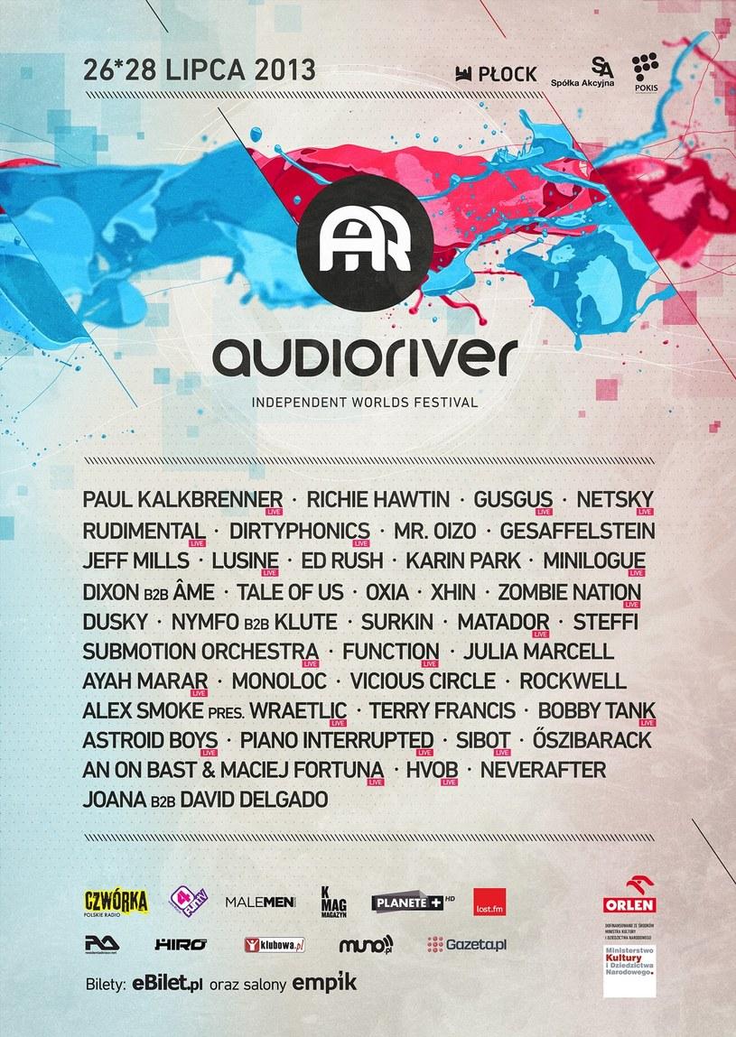 Audioriver 2013 - oficjalny plakat festiwalu /materiały prasowe