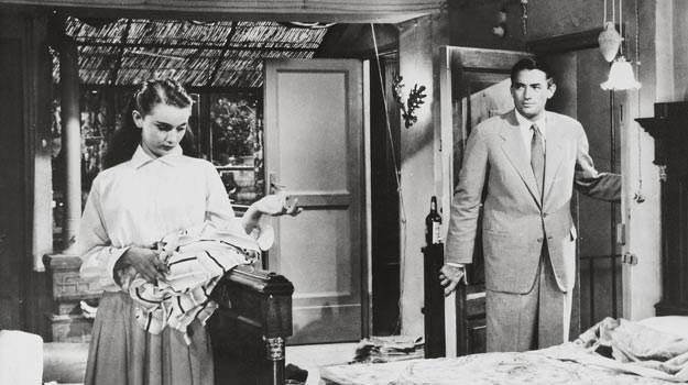 Audrey Hepburn i Gregory Peck w mieszkaniu przy via Margutta 51 /East News