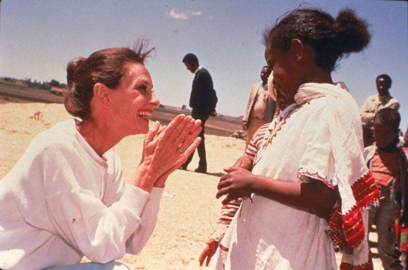 Audrey Hepburn w Etiopii w 1988 roku /UNICEF /Getty Images