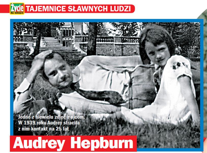 Audrey ze swoim tatą /- /Życie na gorąco