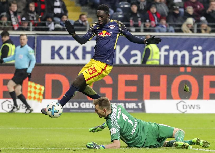 Augustin strzela gola dla Lipska /PAP/EPA