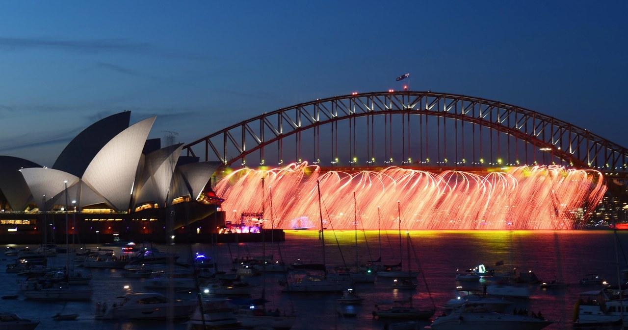 Australia: Wielki noworoczny pokaz ogni sztucznych w Sydney