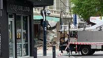 Australia: Zniszczone budynki po przejściu trzęsienia ziemi w Melbourne