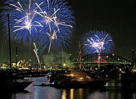 Australijczycy już powitali nowy rok /AFP