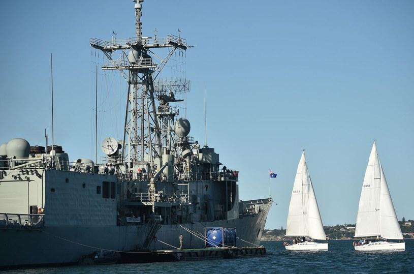Australijska Fregata typu Adelaide /PETER PARKS /AFP