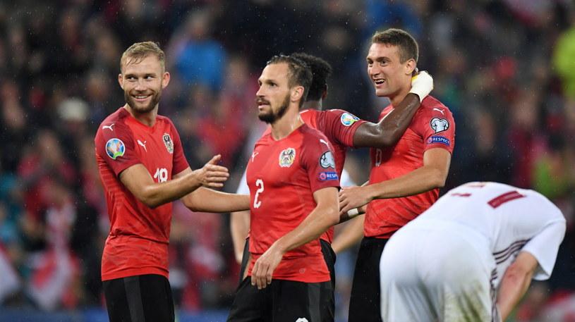 Austriacy mieli sporo powodów do zadowolenia w meczu z Łotwą /PAP/EPA
