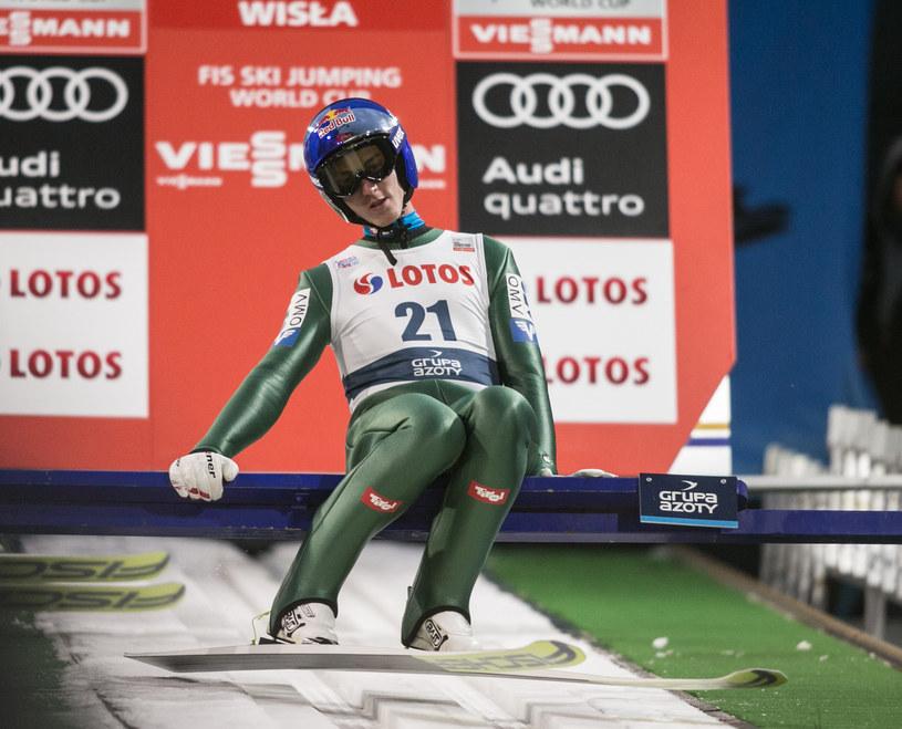 Austriak Gregor Schlierenzauer na skoczni w Wiśle /AFP