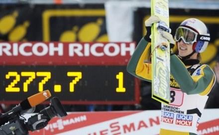Austriak Gregor Schlierenzauer wygrał trzeci konkurs 58. TCS w Innsbrucku. /AFP