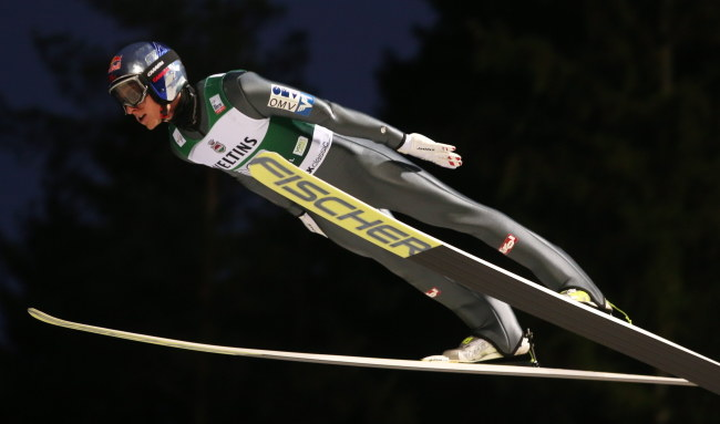 Austriak Gregor Schlierenzauer /Grzegorz Momot /PAP