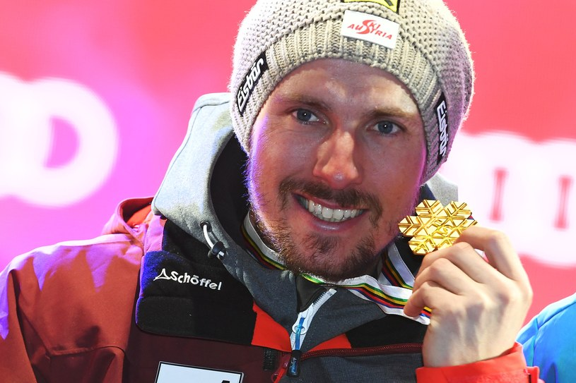 Austriak Marcel Hirscher ze złotym medalem MŚ /AFP