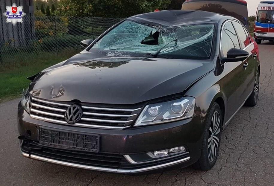 Auto, które uczestniczyło w wypadku /Policja