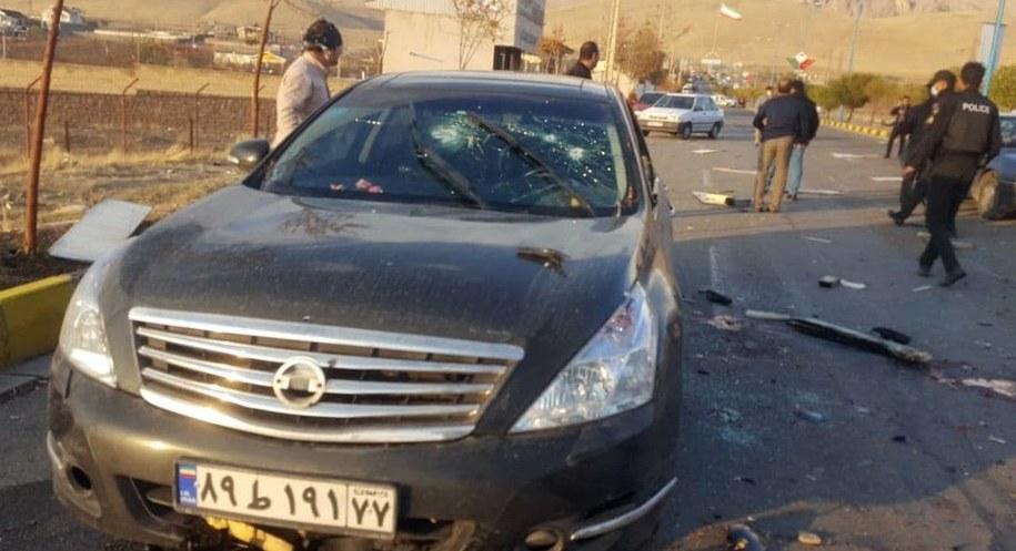 Auto, którym jechał Fakhrizadeh /IRIB /PAP/EPA