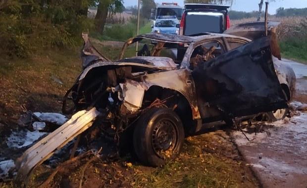 Auto uderzyło w drzewo i zapaliło się. 4 młode osoby zginęły