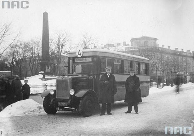Autobus komunikacji miejskiej w Lublinie /Z archiwum Narodowego Archiwum Cyfrowego