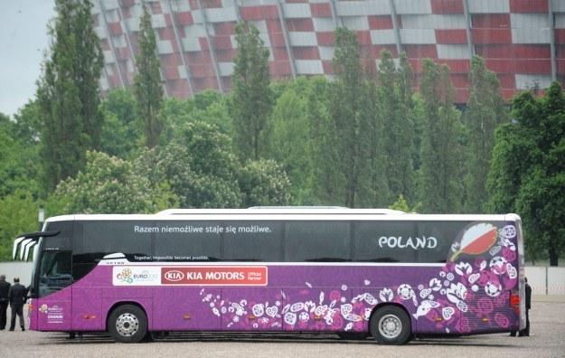 Autobus reprezentacji Polski /PAP