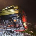 Autobus spadł z wysokiej skarpy w Podkarpackiem. Nie żyją 3 osoby