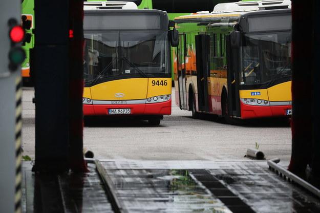 Autobusy na placu zajezdni autobusowej firmy Arriva / Leszek Szymański    /PAP