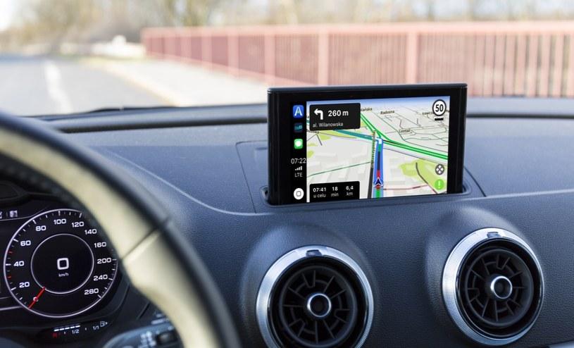 AutoMapa dostępna w CarPlay /materiały prasowe