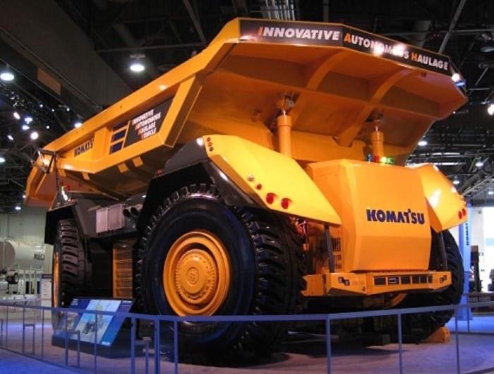 Autonomiczna ciężarówka Komatsu /materiały prasowe