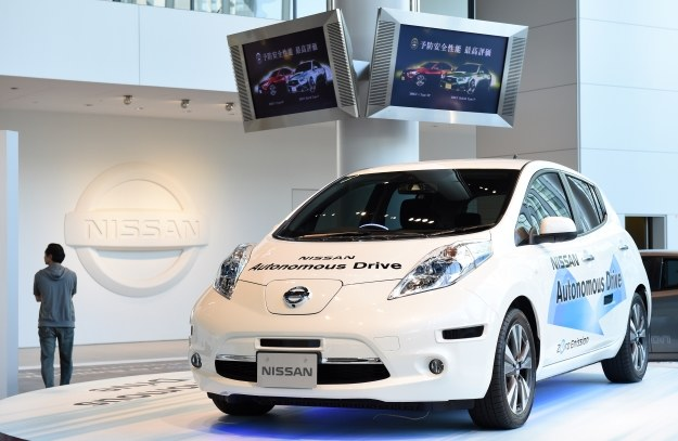 Autonomiczny samochód Nissana /AFP