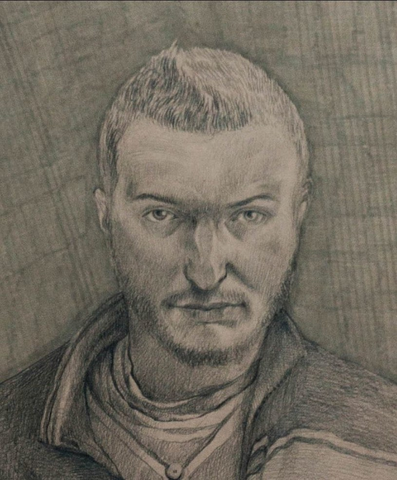 """Autoportret Jacka Hajnosa /Jeden z portretów zamieszczonych w książce-albumie """"Różnica"""" /"""