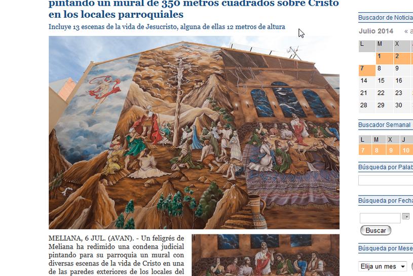 Autorem malowidła jest skazany na 2 lata więzienia Ricardo Civetta /archivalencia.org /INTERIA.PL