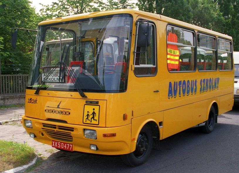 """Autosan h6 w wersji """"Gimbus"""" /Wikimedia Commons /domena publiczna"""
