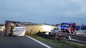 Autostrada A2 zablokowana w stronę Warszawy