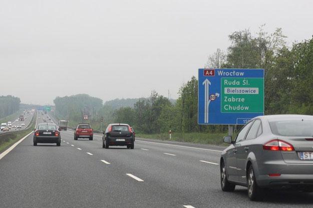 Autostrada A4 w okolicach Rudy Śląskiej i Gliwic Fot. Łukasz Jóźwiak /Reporter