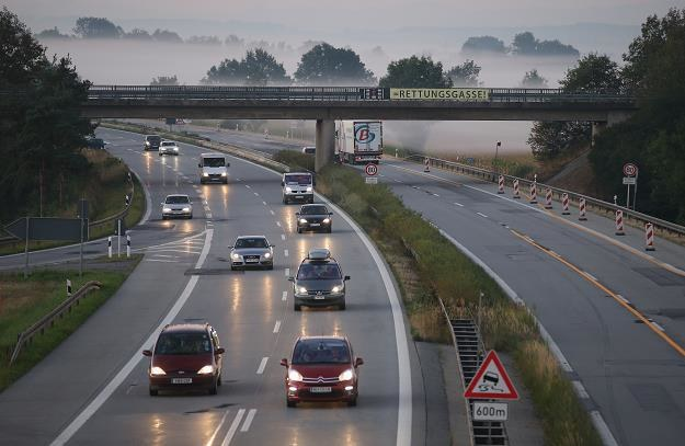 Autostrada w południowych Niemczech. Fot. Sean Gallup /Getty Images/Flash Press Media
