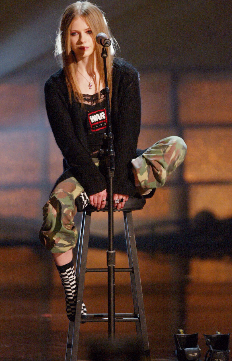 Avril Lavigne, 2003 r. /Kevin Winter /Getty Images