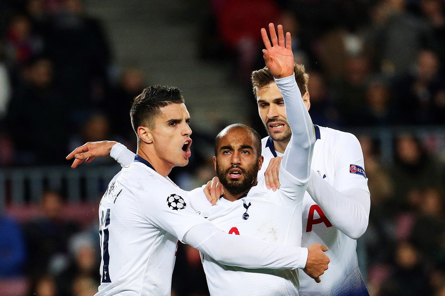 Awans zapewnili dziś sobie piłkarze Tottenhamu /Alejandro Garcia /PAP/EPA