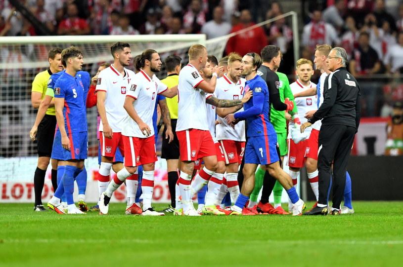 Awantura wybuchła tuż przed przerwą meczu Polska - Anglia /Piotr Nowak /PAP