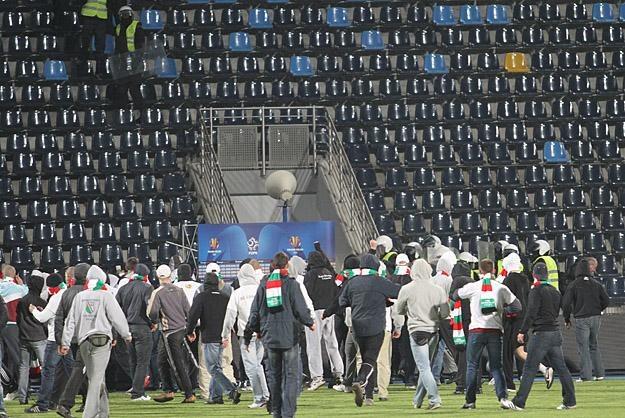 Awantury na stadionie w Bydgoszczy /INTERIA.PL