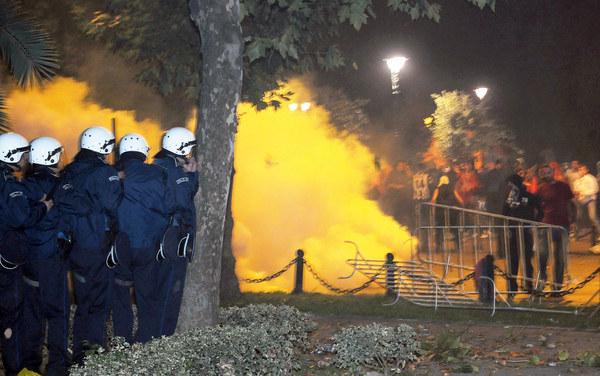 Awantury wywołane przez chuliganów Buducnosti Podgorica w 2008 roku. /AFP