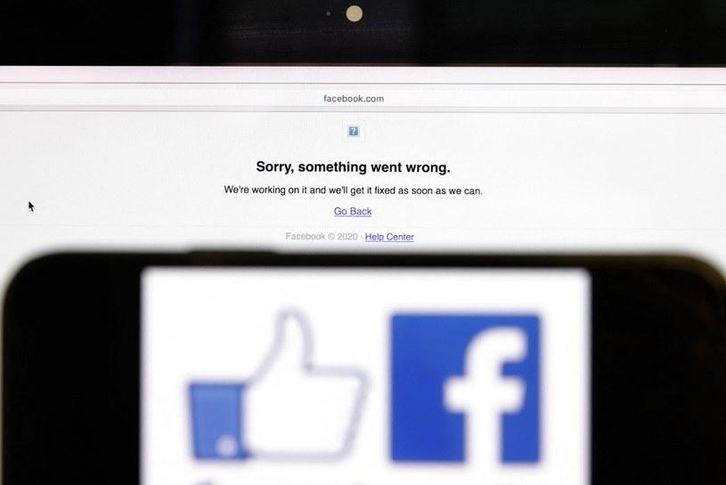 Awaria Facebooka trwała około sześciu godzin /AFP