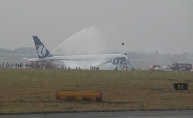 Awaryjne lądowanie Boeinga 767 w Warszawie