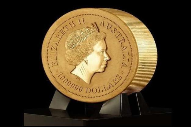 Awers największej monety świata   fot. BornRich.com /Gadżetomania.pl