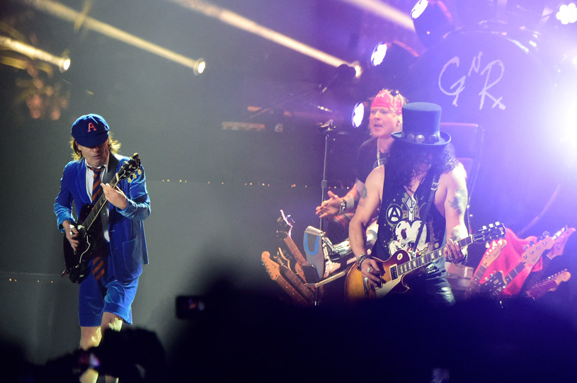 Axl Rose i Angus Young /Frazer Harrison /Getty Images