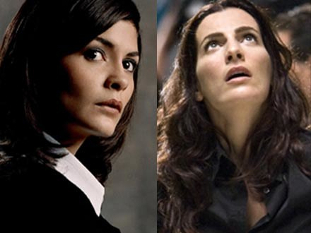 """Ayelet Zurer w """"Aniołach i demonach"""" (L) nie dorównuje Audrey Tautou (L) z """"Kodu da Vinci"""" /materiały dystrybutora"""