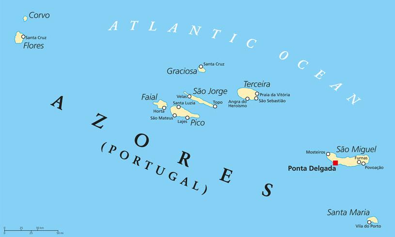 Azory to archipelag dziewięciu wulkanicznych wysp na środku Atlantyku /123RF/PICSEL