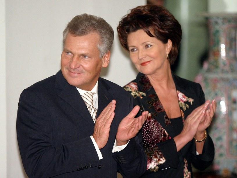 B. prezydent Aleksander Kwaśniewski i jego żona Jolanta /Stefan Maszewski /Reporter
