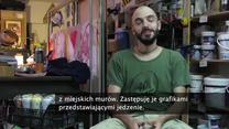 Babeczki zamiast swastyk. Uliczny artysta zamalowuje symbole nienawiści na murach we Włoszech