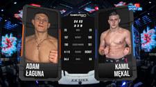 Babilon MMA 18. Adam Łaguna - Kamil Mękal. Łaguna wygrywa duszeniem za pleców (Polsat Sport). wideo