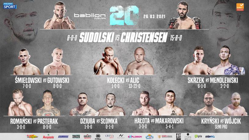 Babilon MMA 20 /mat. prasowy /materiały prasowe