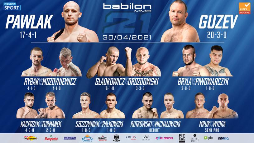Babilon MMA 21 /mat.prasowe /materiały prasowe