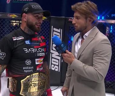 Babilon MMA. Piotr Niedzielski zachwycony po zdobyciu pasa mistrzowskiego (POLSAT SPORT) Wideo