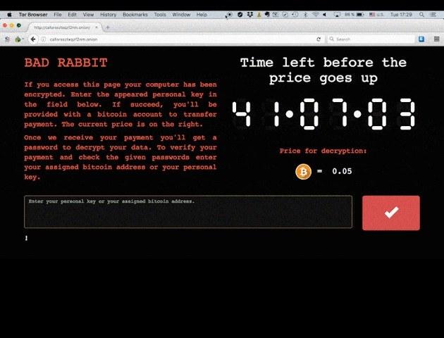 Bad Rabbit - zrzut ekranu udostępniony przez Bitdefender /materiały prasowe